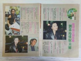 刘嘉玲彩页   2张2面