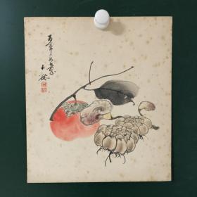 日本回流字画 1046方型短册