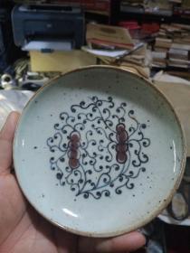 青花釉里红小瓷器,年代未知,价格不高,售出不退。保真瓷,不包年代。