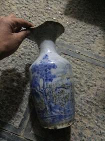 清末人物花瓶
