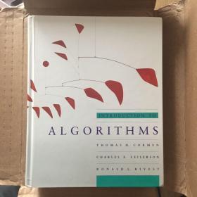 计算机四大名著之一,《算法导论》Introduction to algorithm 第一版英文原版 (1990年6月)