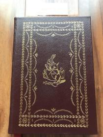 """近全新!【现货在美国家中、2周左右到国内、全国包顺丰】Alice's Adventures in Wonderland,《 爱丽丝漫游奇境记》,Lewis Carroll(著),伊东书局出版的 """"有史以来最伟大的100本书"""" 之一,Collector's Edition / 收藏版,1977年出版(请见实物拍摄照片第张5版权页),精装,172页,豪华全真皮封面,三面刷金,珍贵外国文学参考资料!"""