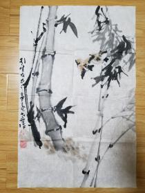 陕西著名老画家 弋舟(张博)花鸟画 .赠品画册