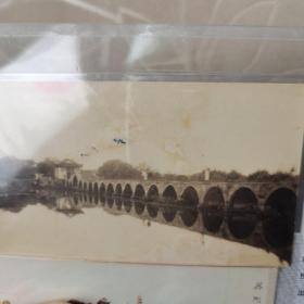中国第一长石拱桥,吴江垂虹桥民国照片