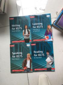 Collins english for exams:Speaking for Ielts、Listening for Ielts、Writing for IELTS、Reading for Ielts(英文原版 4本合售)带2张光