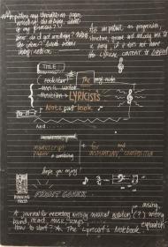 平装 the lyricists note book 作词人的笔记簿