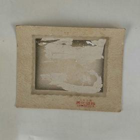 老照片,后背板一个。(公私合营时期,上海襄阳南路 美化照相,,15.5㎝x12㎝