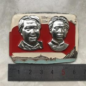 红色纪念收藏文革时期毛主席像章胸针徽章老物件703方版对章散件