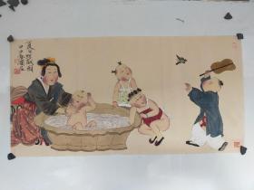 徐乐乐  人物画横幅 尺寸68x34