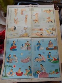 50年代【生活知识挂图:妇幼卫生组(婴儿护理)1张】2开