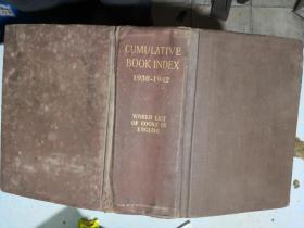 CUMULATIVE BOOK INDEX A WORLD LIST OF BOOKS IN THE ENGLISH LANGUAGE ENGLISH LANGUAGE1938-1942 英文 以图为准