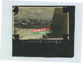 民国1920年左右在北京颐和园万寿山上,向下眺望万寿山后街老照片,11X6.4厘米