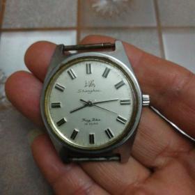 上海手表7120201机械表(时走时停)