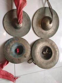 民间老铜镲两套,包浆老辣,完好