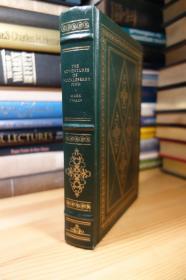 The Adventures of Huckleberry Finn . The Franklin Library 1979年版马克吐温的哈克贝利·费恩历险记,皮面精装,三面刷金,竹节书脊