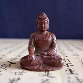 紫铜小佛像 释迦摩尼佛