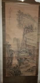 画家  陈安仁 先生 大幅老绢画《白云深处有人家》