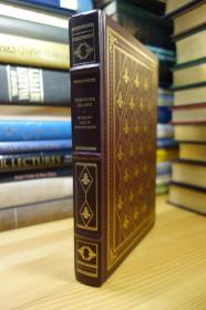 TREASURE ISLAND 金银岛  Franklin Library   三面刷金 竹节书脊 精美插图