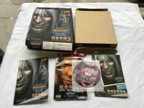 魔兽争霸 3  游戏光盘、手册、安装指南手册   合售