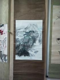 湖北省美术院美术馆馆长、著名山水画家张军(金陵子)山水画