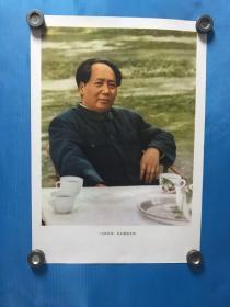 一九四九年,毛主席在北京。