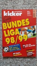 原版踢球者1998-1999赛季德甲特刊