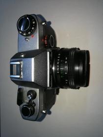 极罕见苏联KNEB-19单反相机,带50定焦镜头,原装牛皮皮套