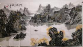 王维宝山水画老软片,包老包手绘。