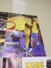 篮球海报 科比 乔丹 火箭四小后卫 2开经典nba海报