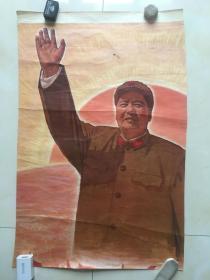 毛主席军装招手像