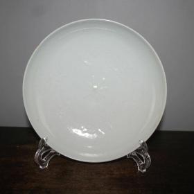 甜白瓷仙鹤盘