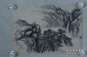 民国时期邱兆麟款山水画