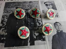 85式志愿军帽徽5个