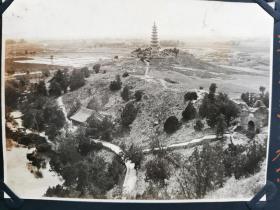 原版民国 黑白老照片:1930年左右《北京 玉泉山美景》一张!尺寸:14.5厘米×10.2厘米。