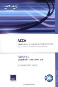F1 Accountant in Business AB (Acca Complete Text F1)