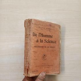 De lHomme a la Science