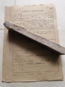 著名左联作家,大夏大学、四川戏剧学院、上海音乐学院、上师大等校教授任钧钢笔填写登 记 表