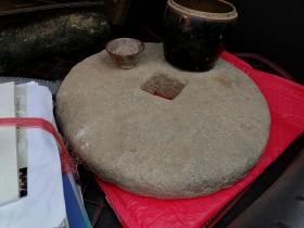 明清老石钱摆件,可做茶台