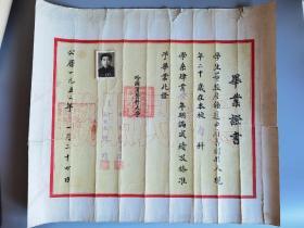 1952年哈尔滨医科大学毕业证书