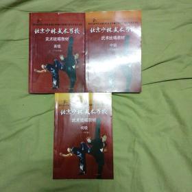 北京少林武术学校 武术统编教材 初级中级高级三册合售