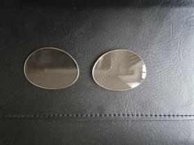 老天然茶色东海水晶镜片,约4.5cmX3.5Cm