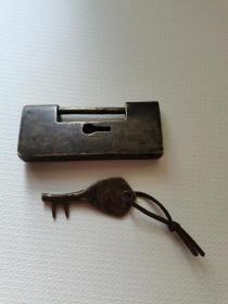 清代老铜锁
