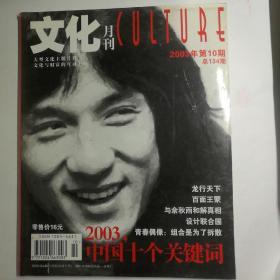 文化月刊2003年第10期 陈龙封面:龙行天下 •范冰冰:我爱堂吉诃德