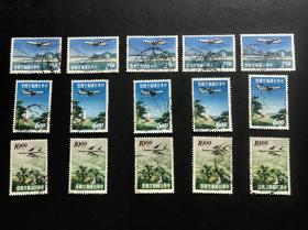 航16 风景航空邮票 信销旧票