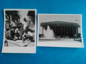 新华社原稿、 原版照片《纪念班达拉奈克国际会议大厦竣工》(1—2,一组两张)中国支持斯里南卡共和国