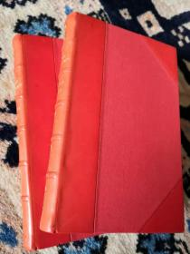 伦敦著名工坊Riviere精美装帧3/4摩洛哥羊皮收藏版卡莱尔名著《法国大革命史》两册全!