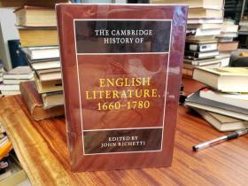 The Cambridge History of English Literature, 1660 1780