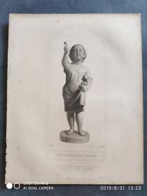 1848年 钢版画 手工点刻 凹印版画 《THE PRINCE ALICE》190901