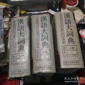 汉语大词典,缩印本上中下
