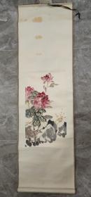 保真书画:佚名 八十年代初原装裱 花卉